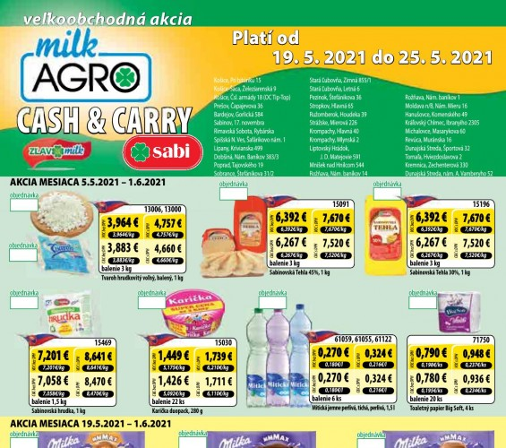 Milk Agro - Milk agro Cash and Carry leták od 19.05.2021